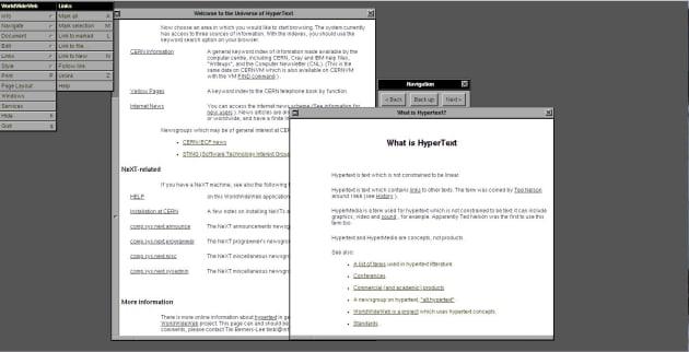 Des développeurs ont recréé le premier navigateur web de l'histoire, le WorldWideWeb. La navigation y...
