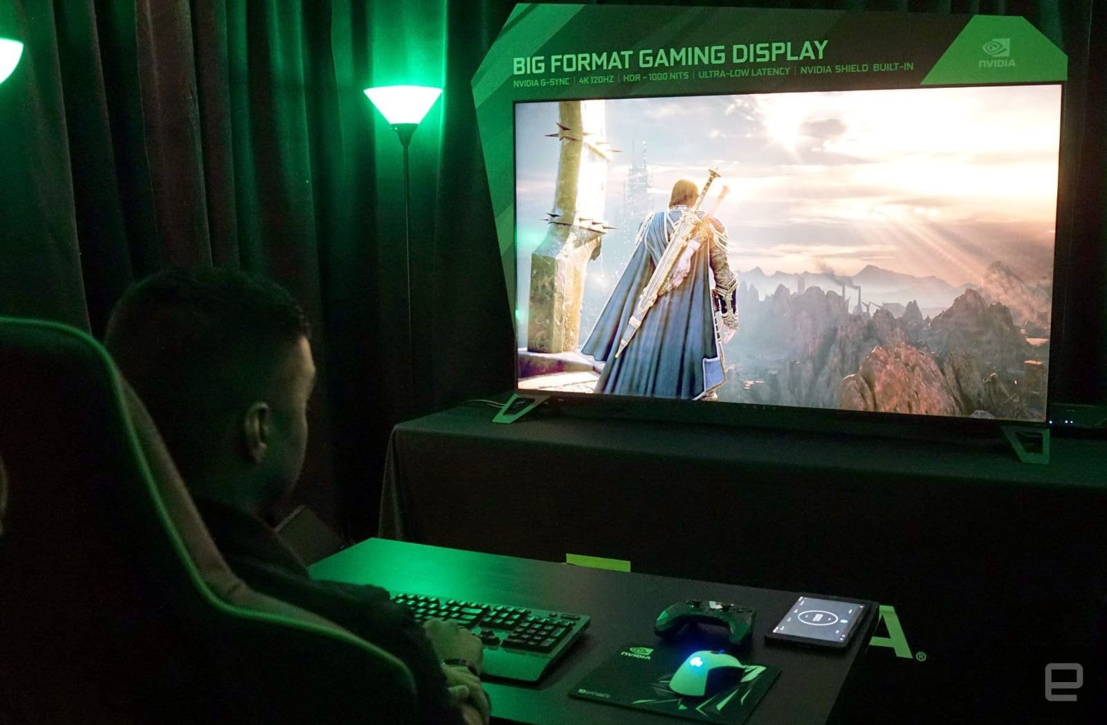 Hands-on with NVIDIA's giant gaming displays and GeForce Now