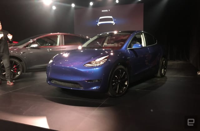 Tesla unveils its Model Y crossover