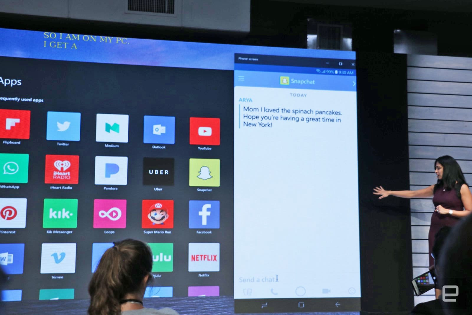 Microsoft is embracing android as the mobile version of windows.