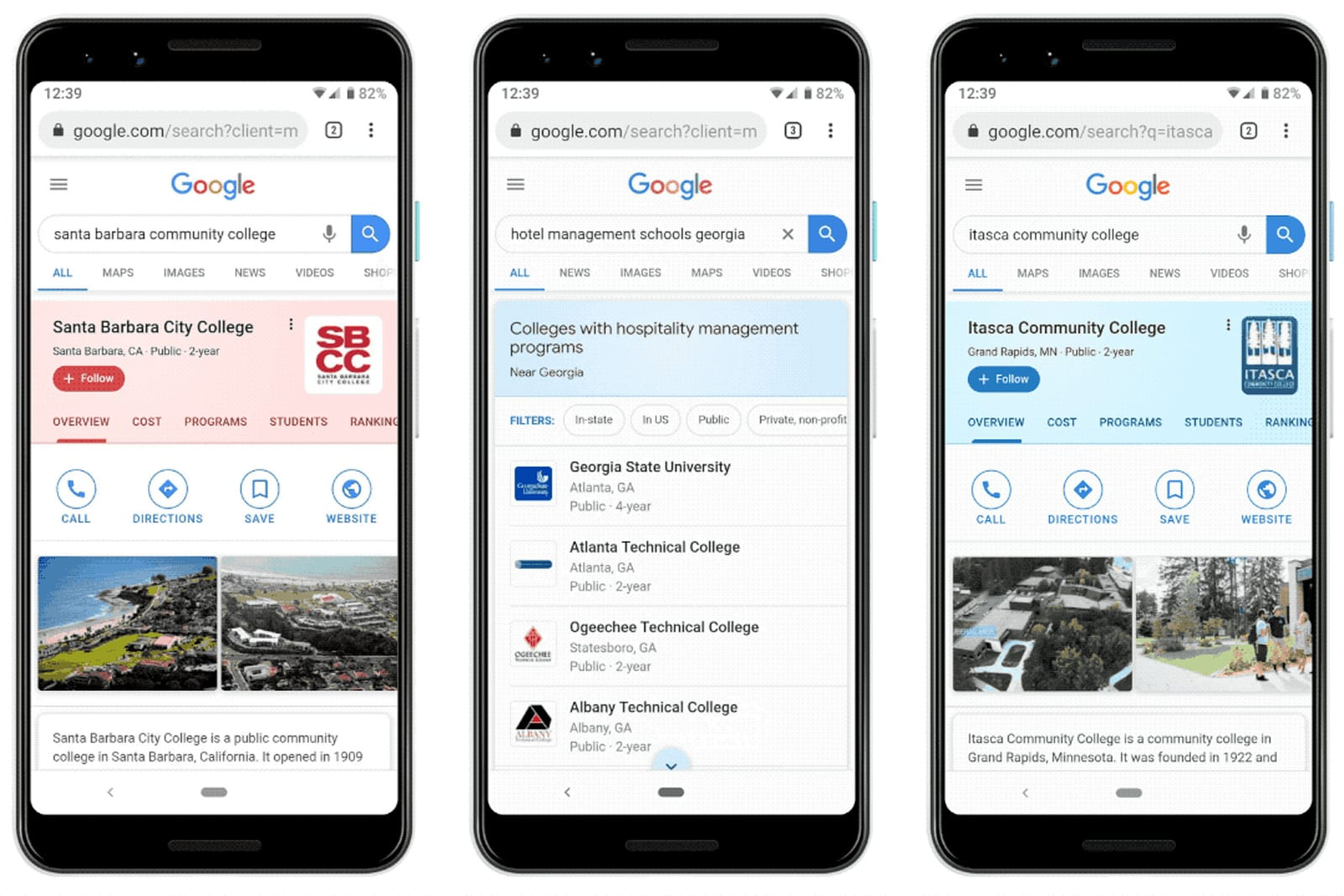 Google's expanded college search helps you explore fields of study