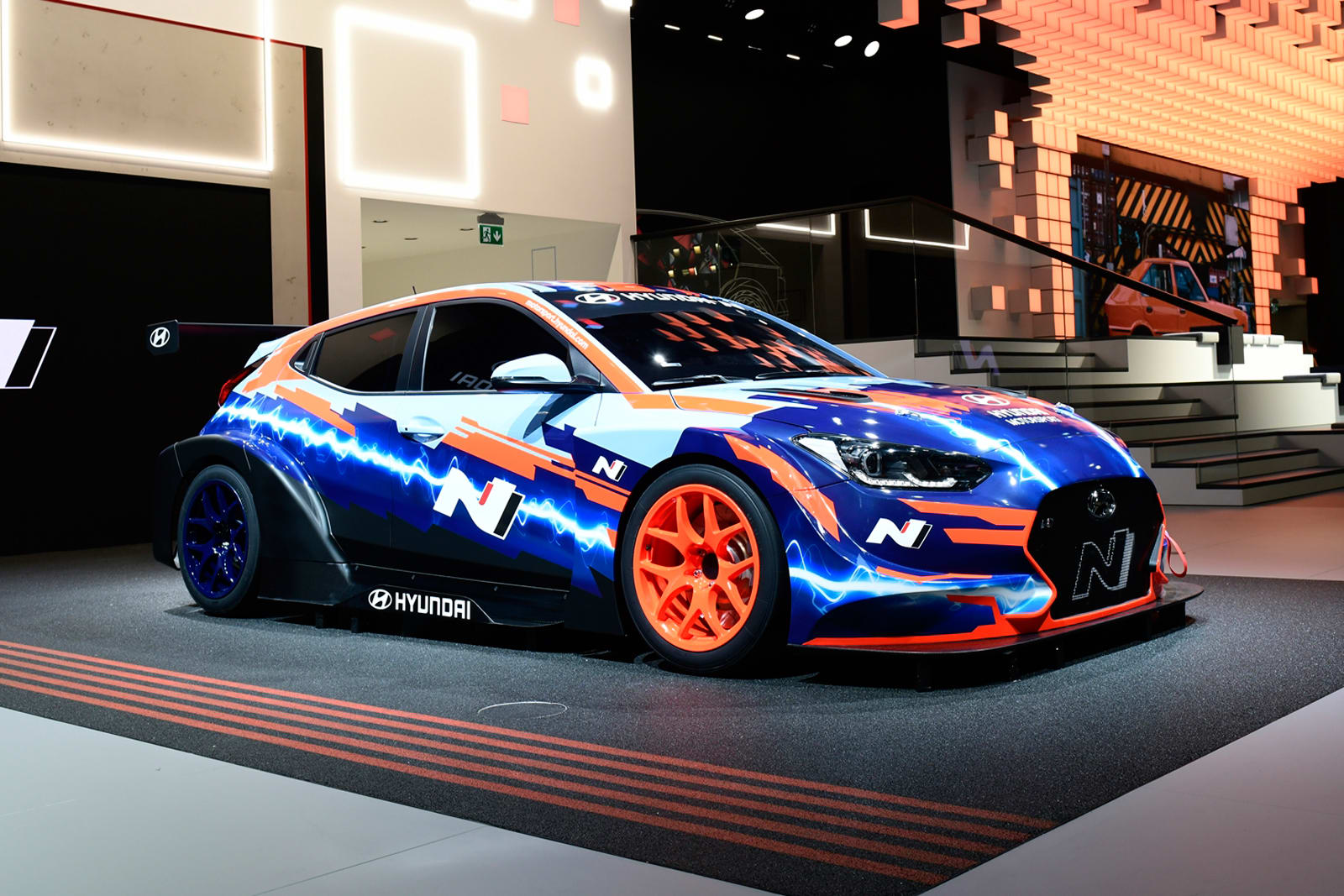 Hyundai's first electric race car is a souped-up Veloster