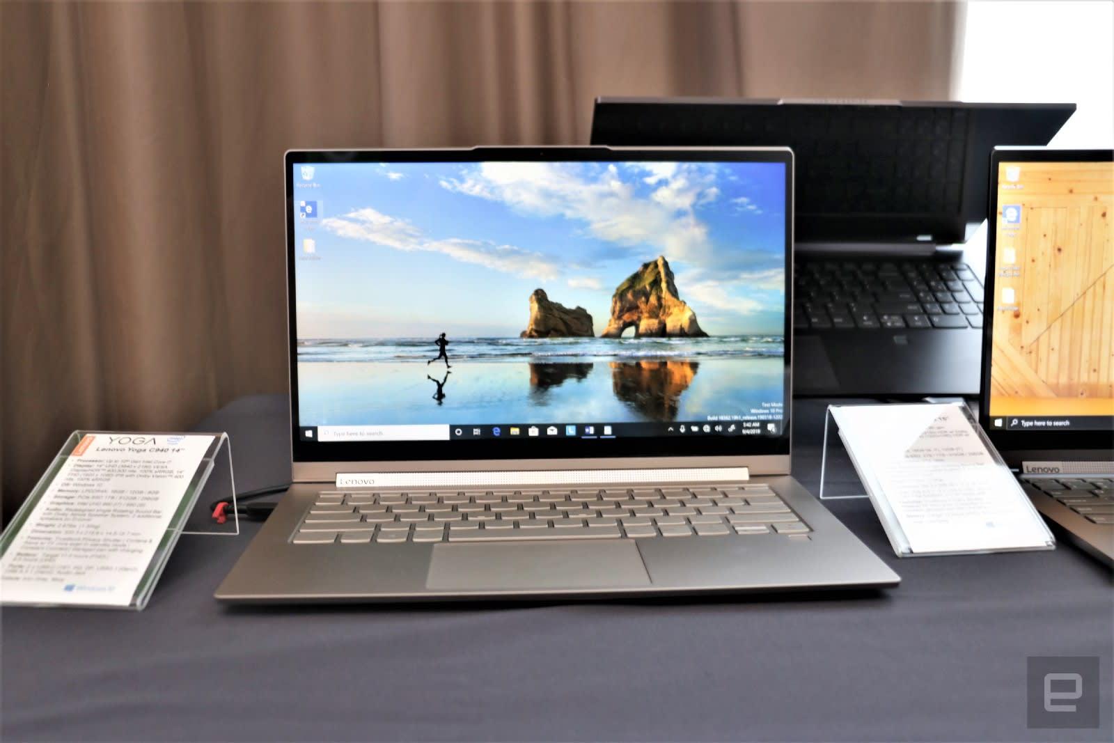 Lenovo Yoga laptops 10th gen Intel update
