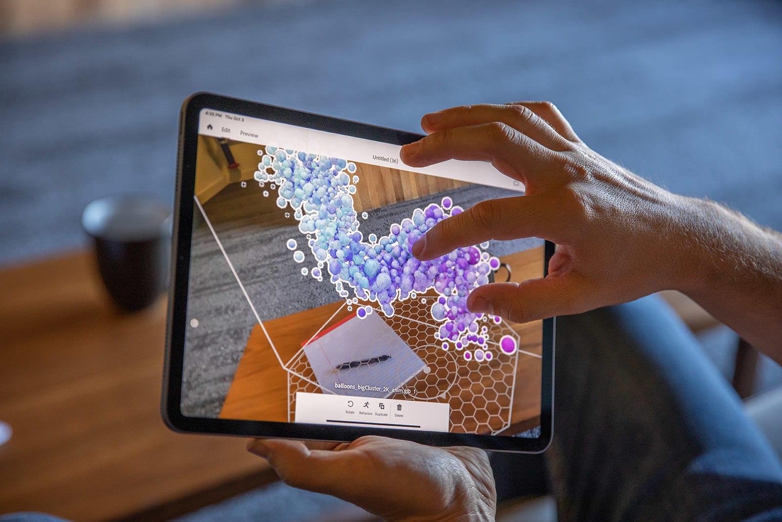 Adobe Aero AR creation tool
