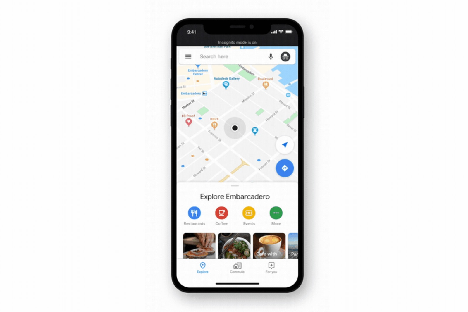 Google Maps for iOS gets Incognito Mode