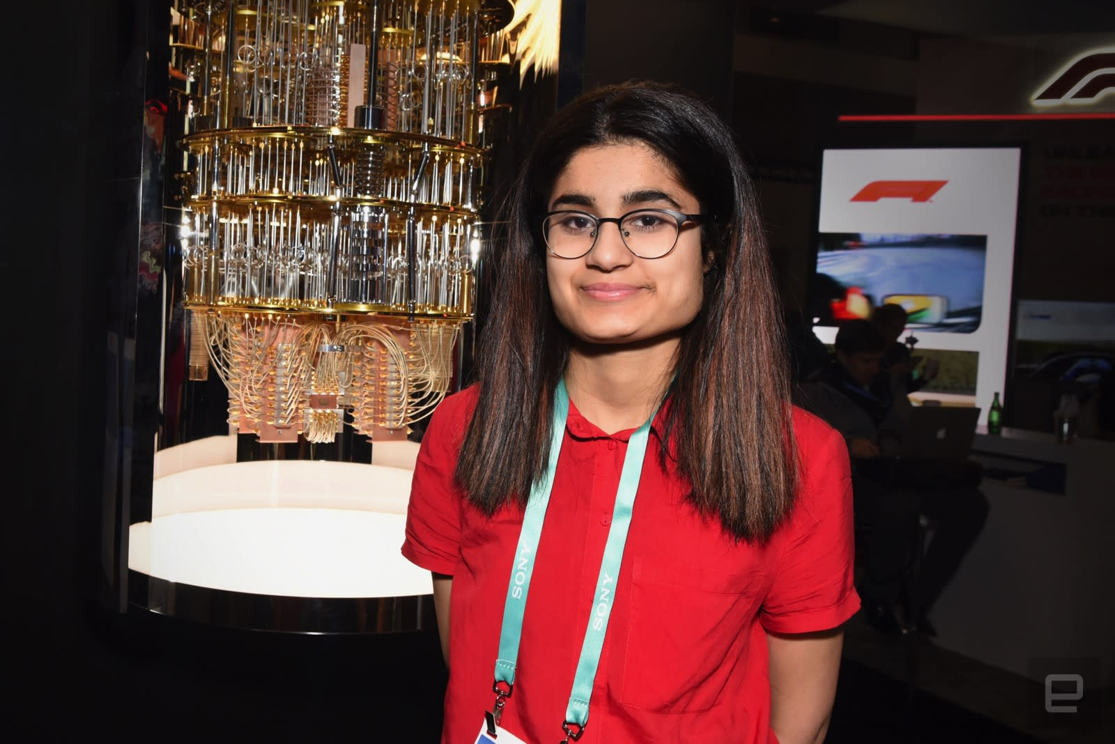 The teenager that's at CES to network