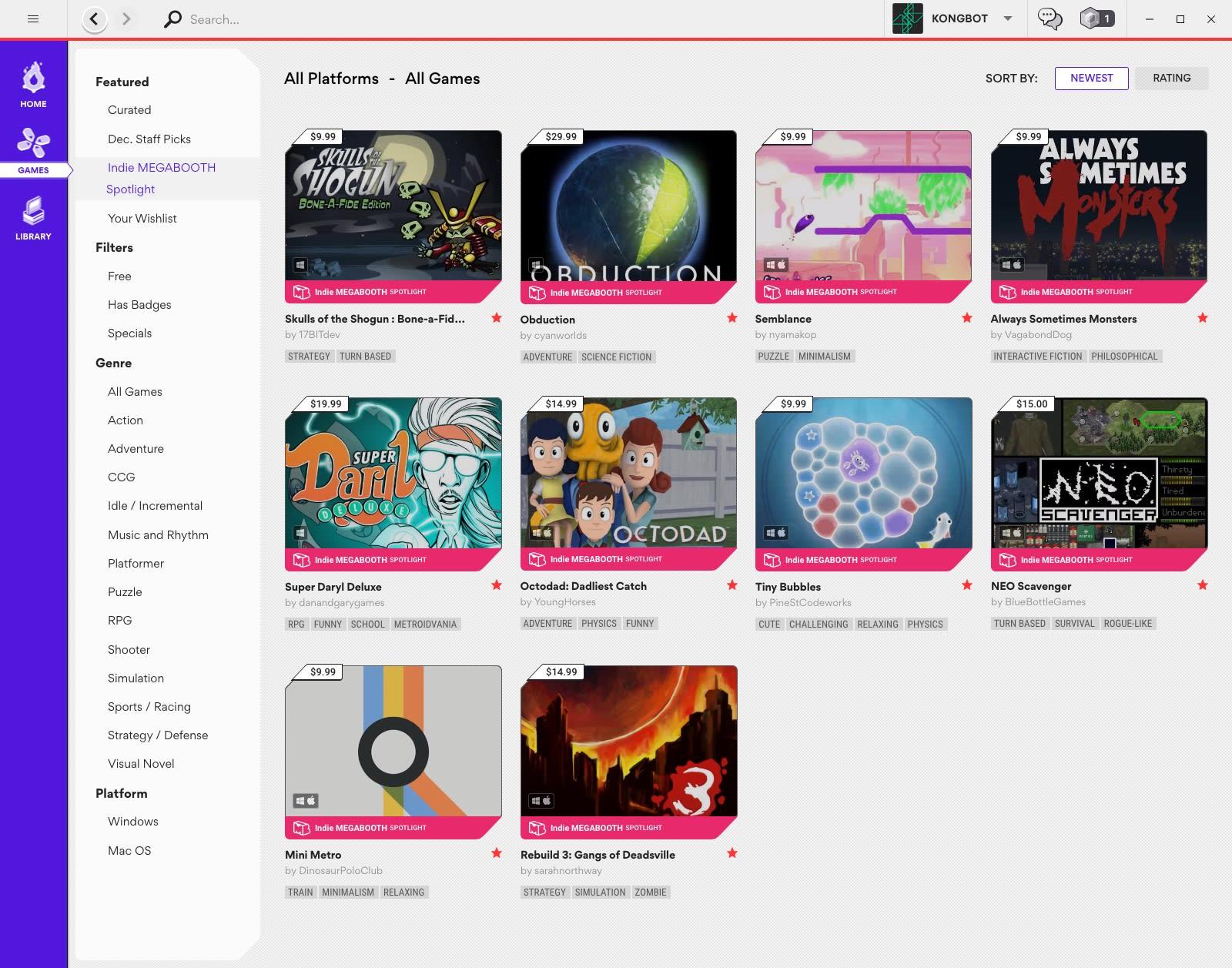 Indie Megabooth Games On Kartridge