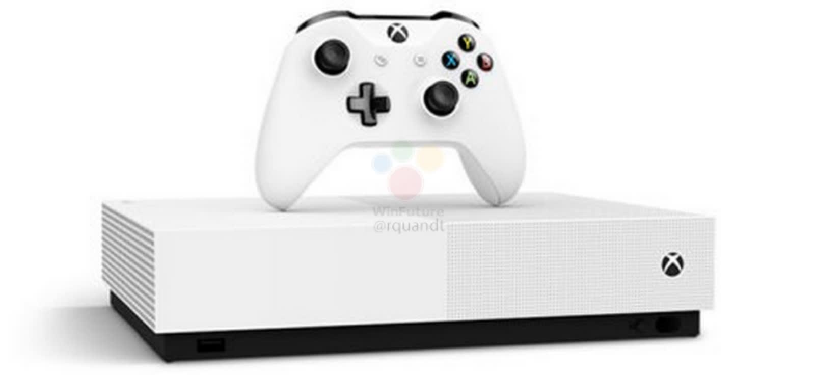 Leak shows Microsoft's 'All Digital' Xbox One S