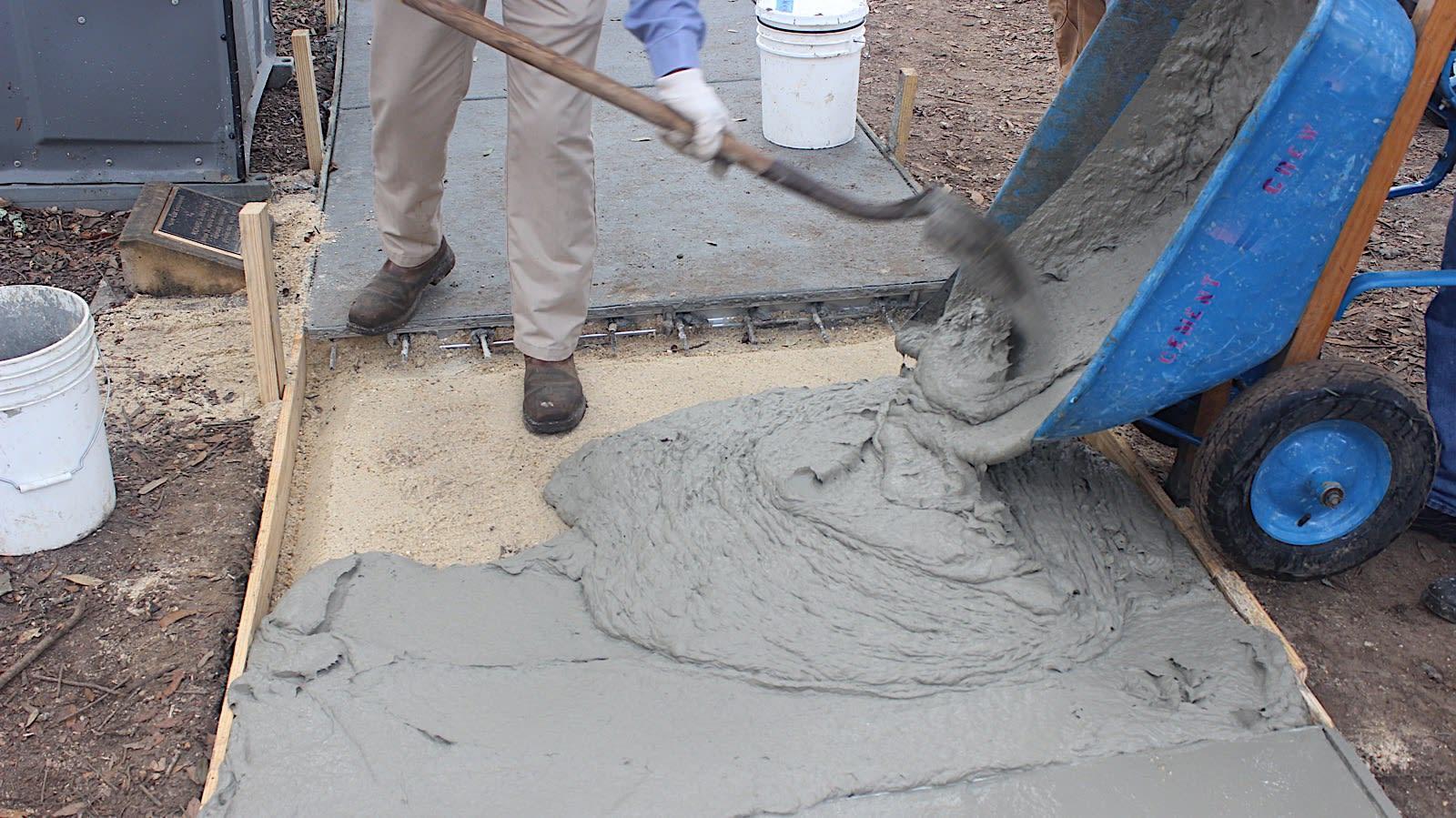LSU concrete pour