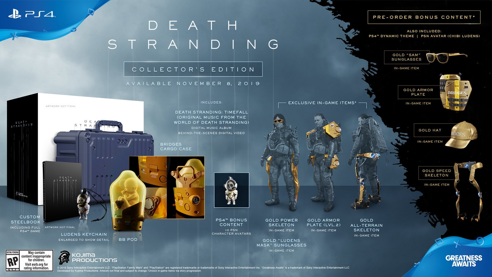 'Death Stranding' bundle with life-sized baby in a pod merch 1