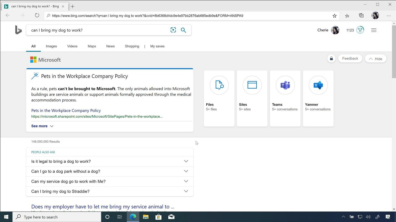 Chromium Edge and Bing