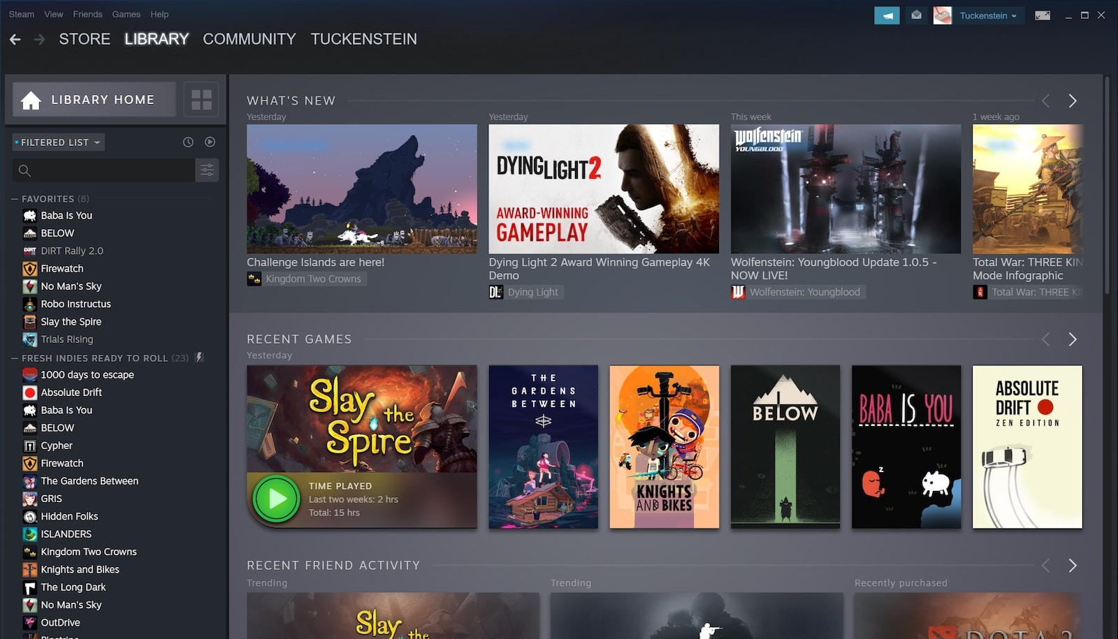 This is the new Steam Library