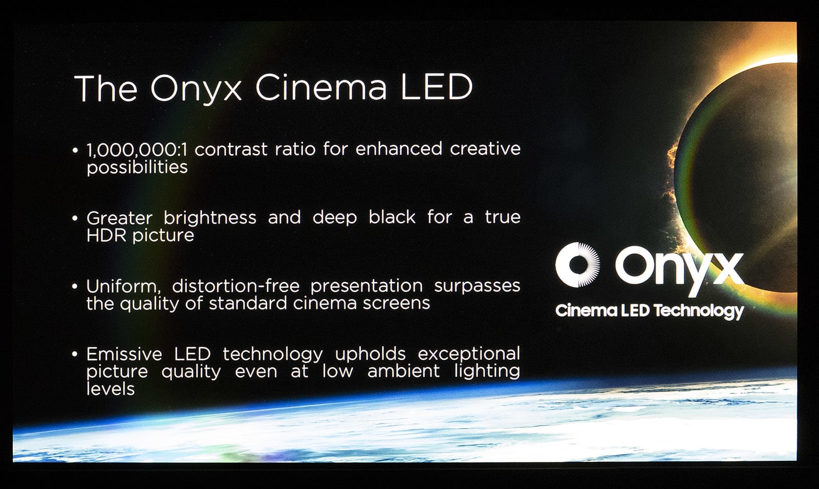 Samsung Onyx LED cinema display