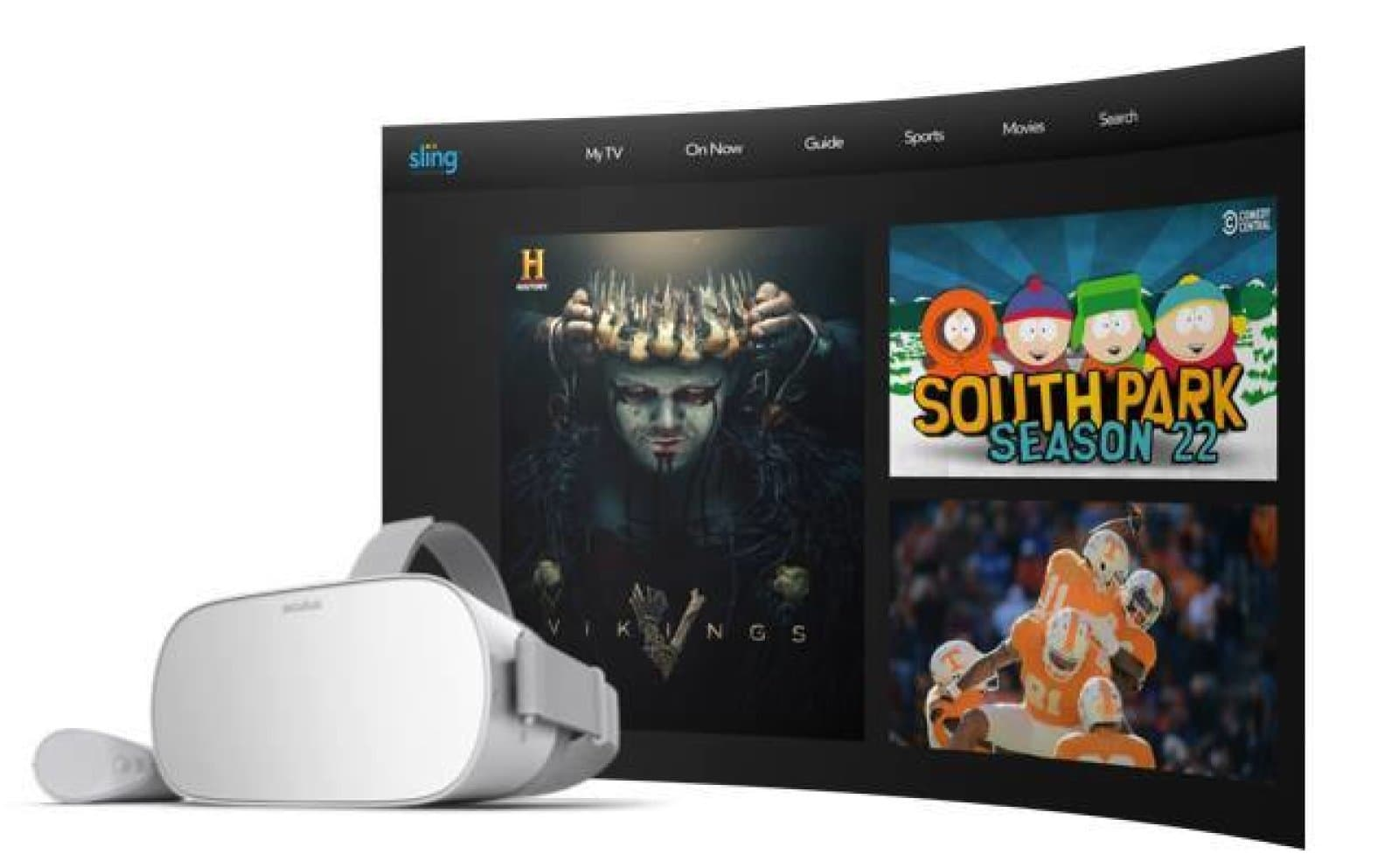 Sling adds social TV and movie viewing to its Oculus Go app