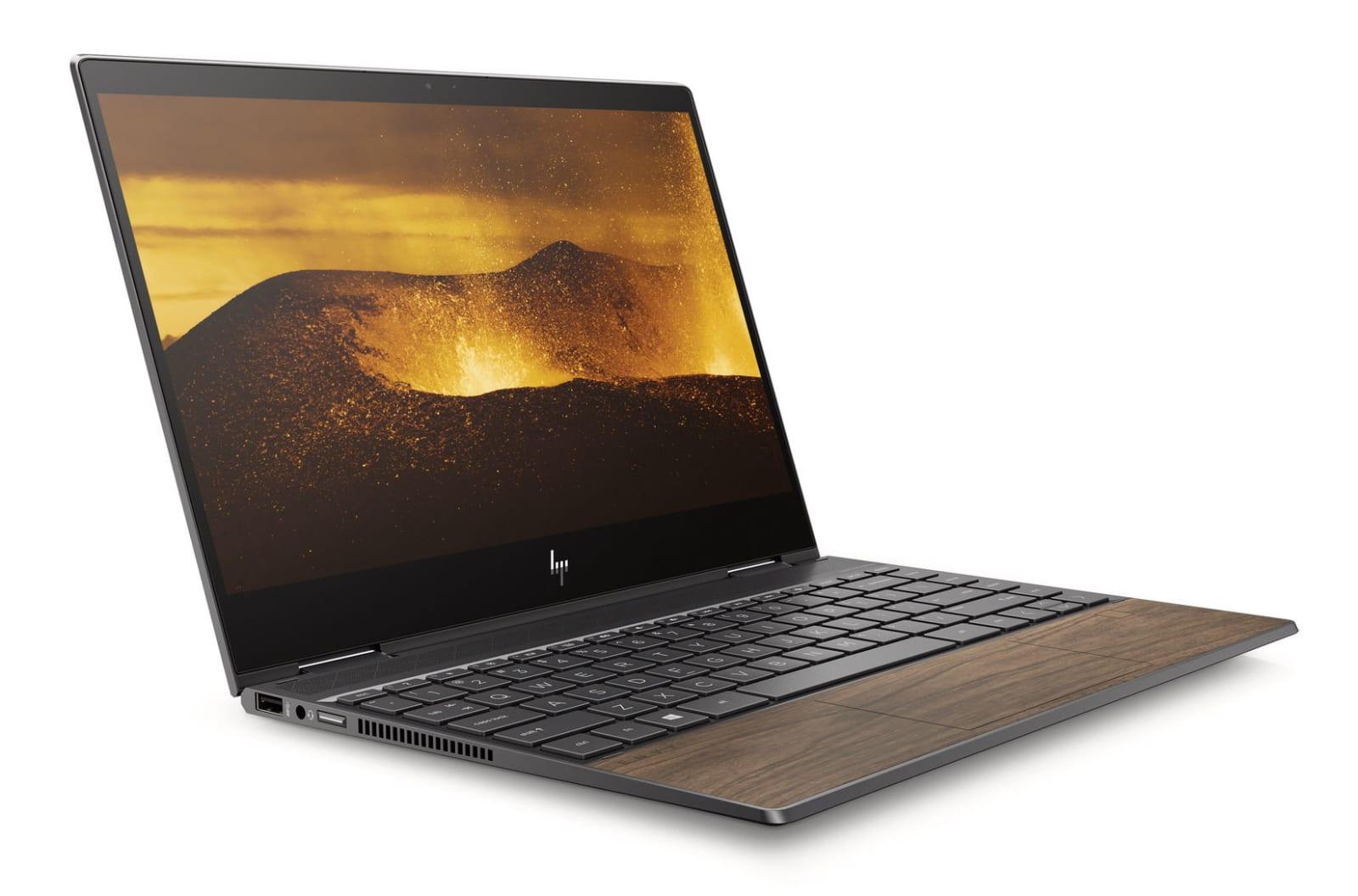 HP Envy x360 wood