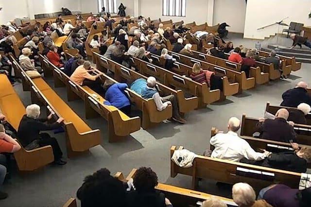 Texas parishioners kill man who shot dead two during livestreamed church service