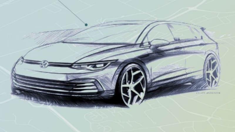 Volkswagen Golf Exterior Sketch