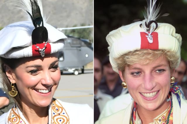 Kate follows in Diana's footsteps with hat in the mountains of Pakistan