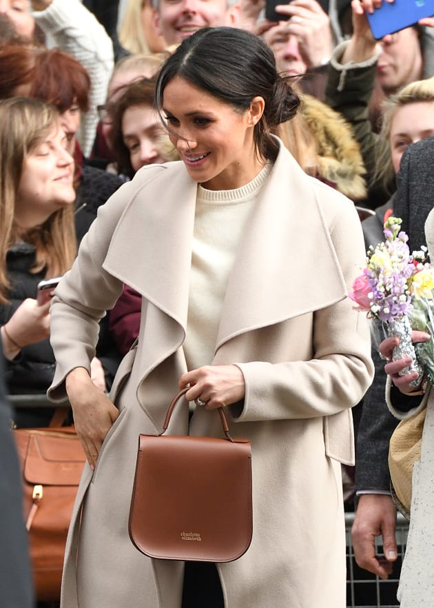 Meghan Markle meets members of the public in Belfast, Northern Ireland on March 23,