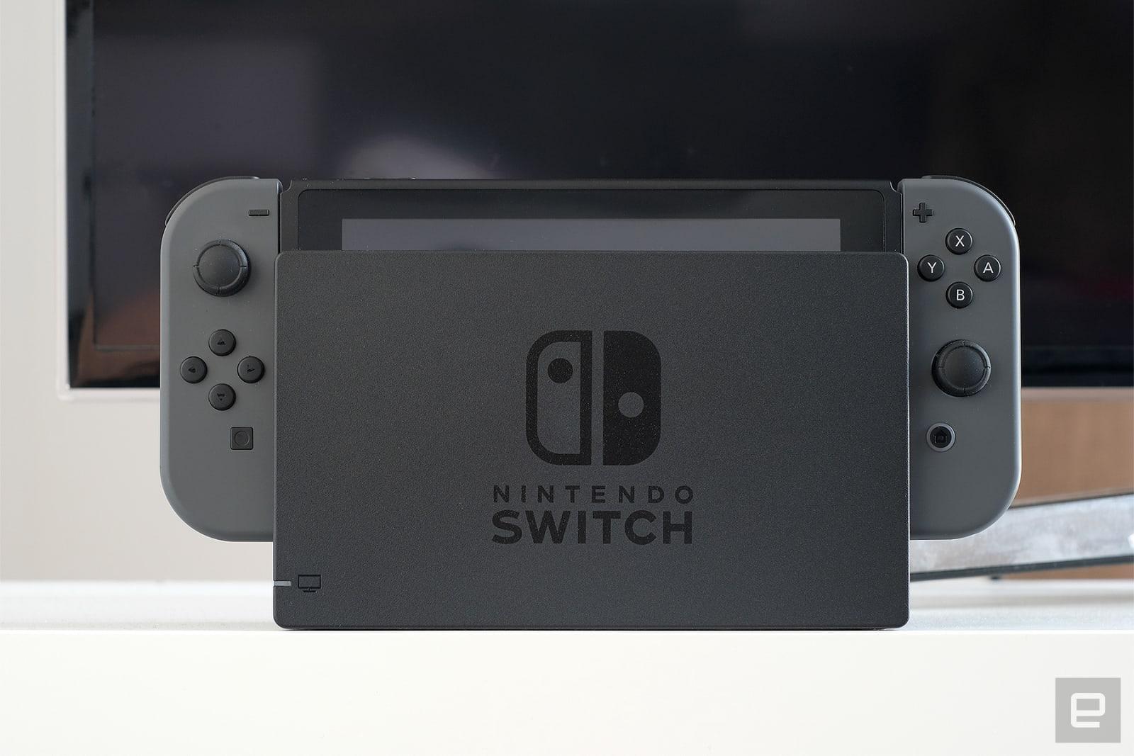 Docked Nintendo Switch
