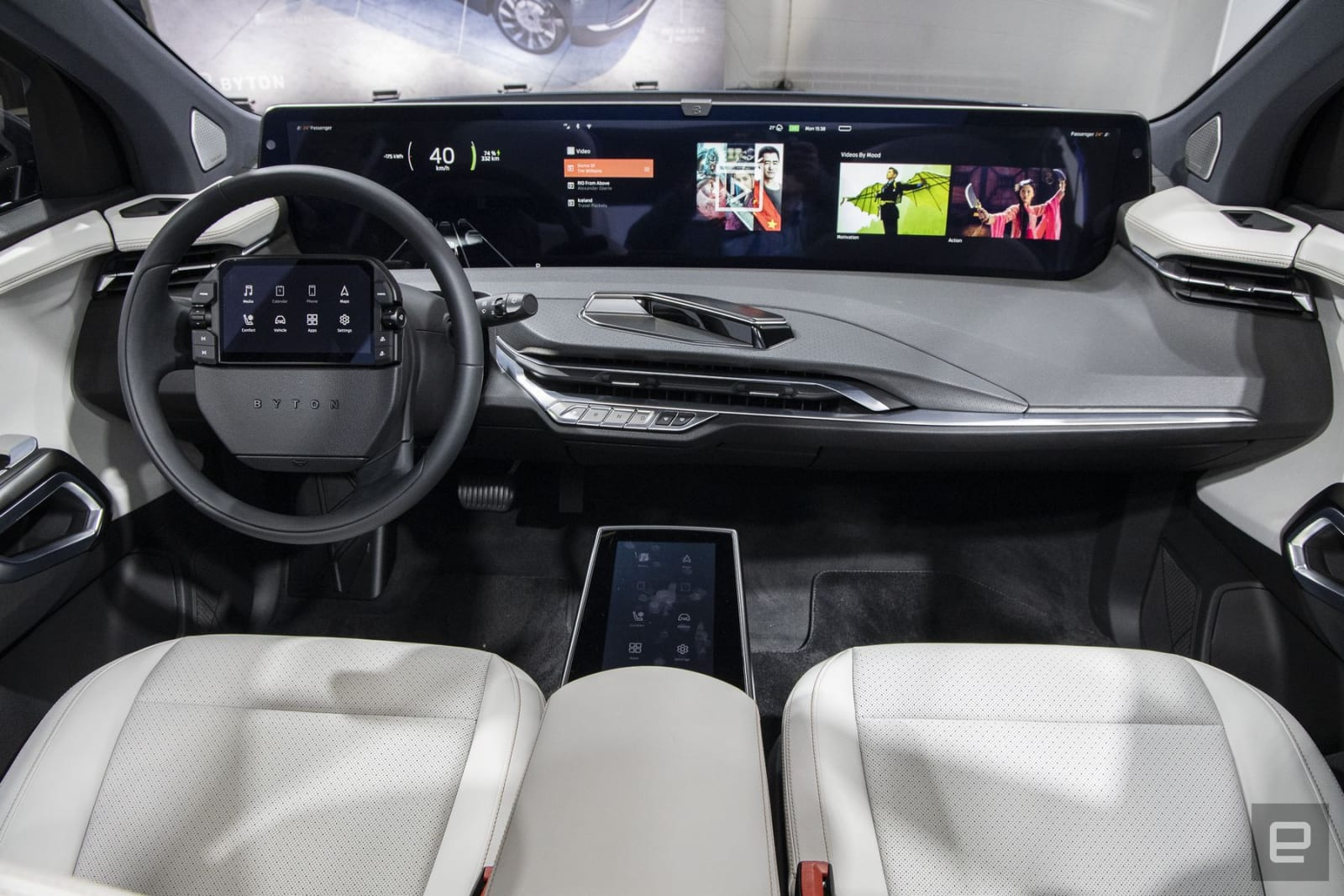 Byton M-Byte EV SUV 48-inch curved display