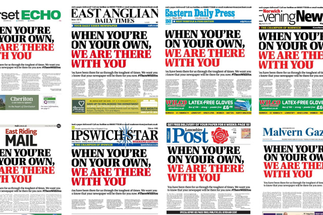 Local newspapers join forces to reassure readers amid coronavirus crisis