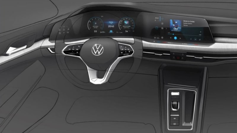 Here's a clear look at the next-gen Golf's minimalistic interior