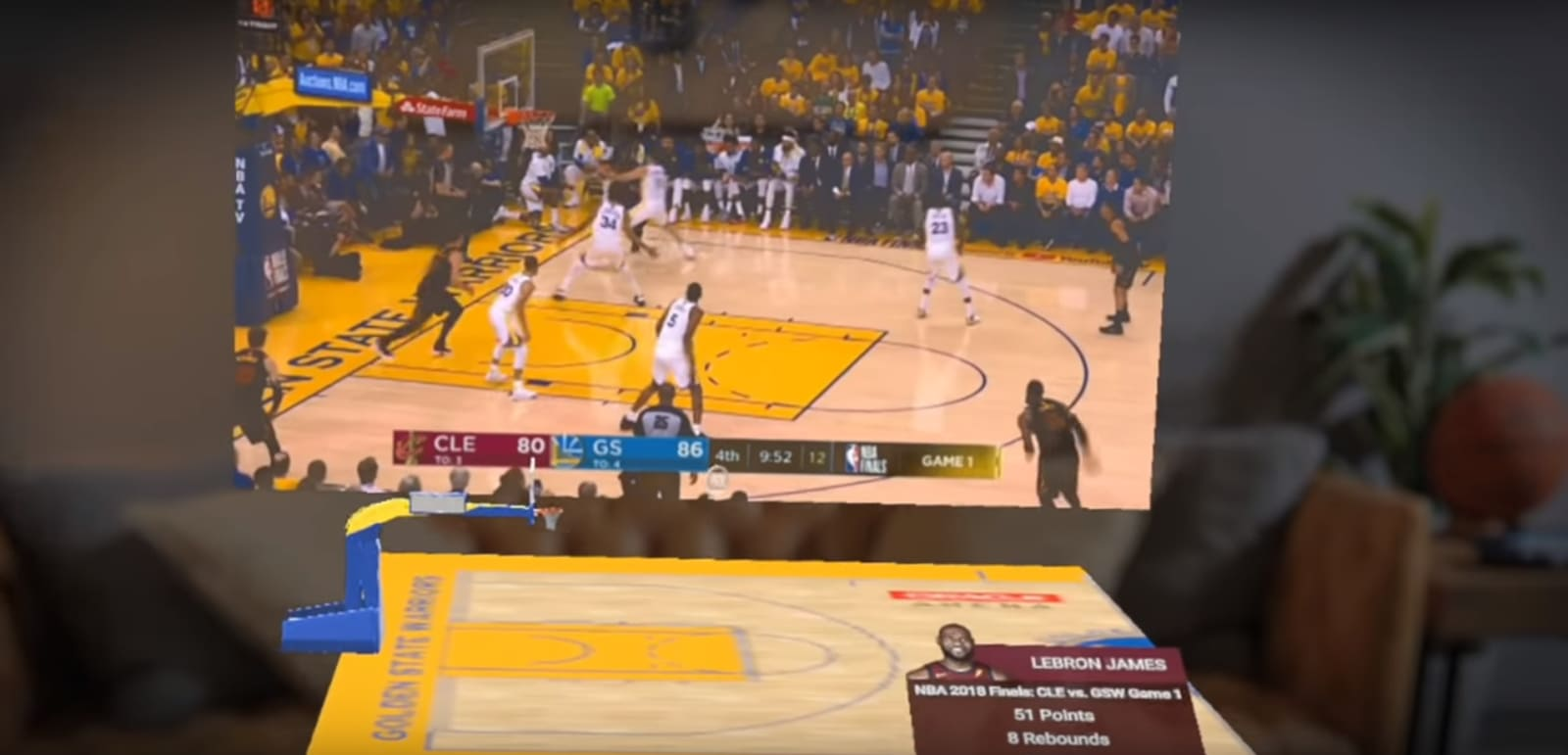 NBA's Magic Leap app lets you watch basketball in augmented reality