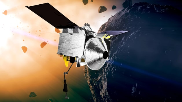 NASA OSIRIS-REx spacecraft Canada laser scanning system asteroid Bennu