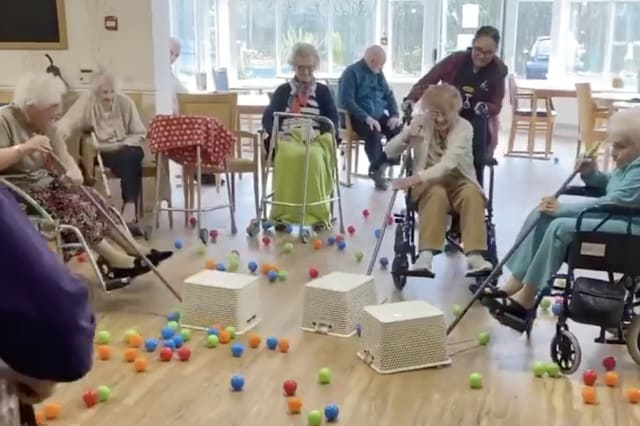 Hungry Hippos at care home