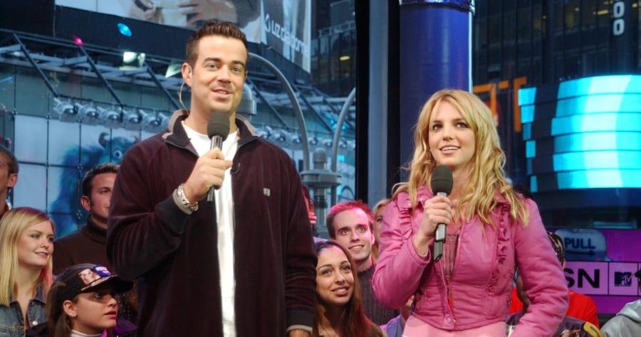 'Spankin New Music Week' on MTV's 'TRL' - November 6, 2001