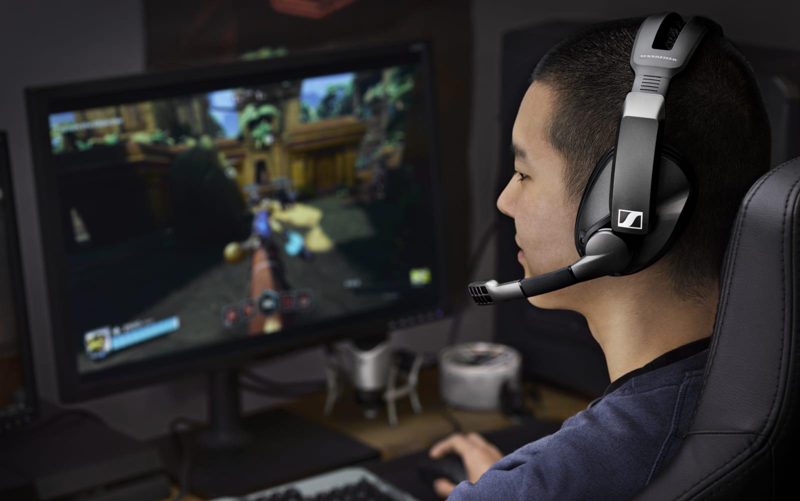 Sennheiser's $200 gaming headset promises 100 hours of battery life