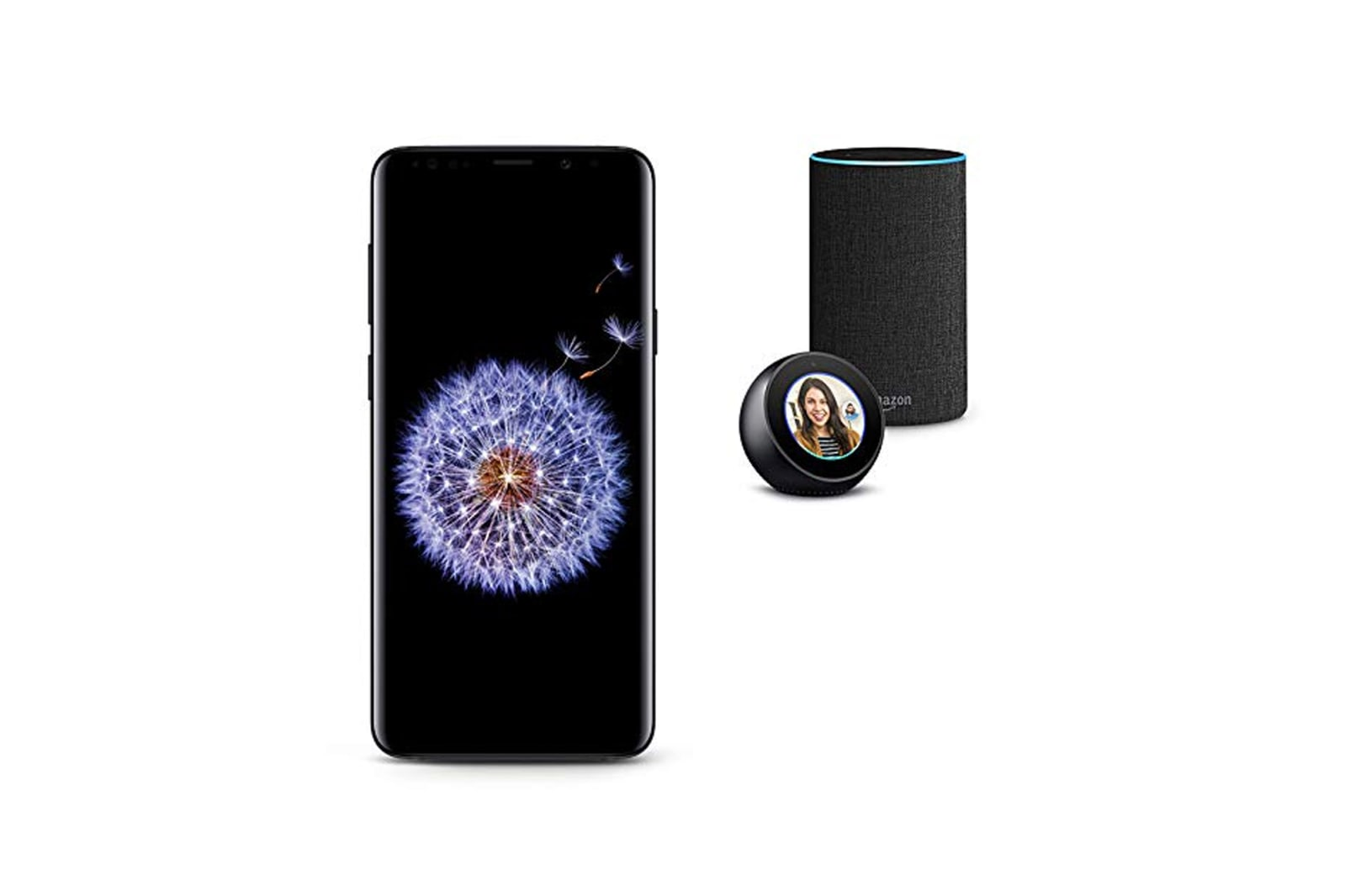 Samsung Galaxy S9, Echo Spot, and Echo Bundle