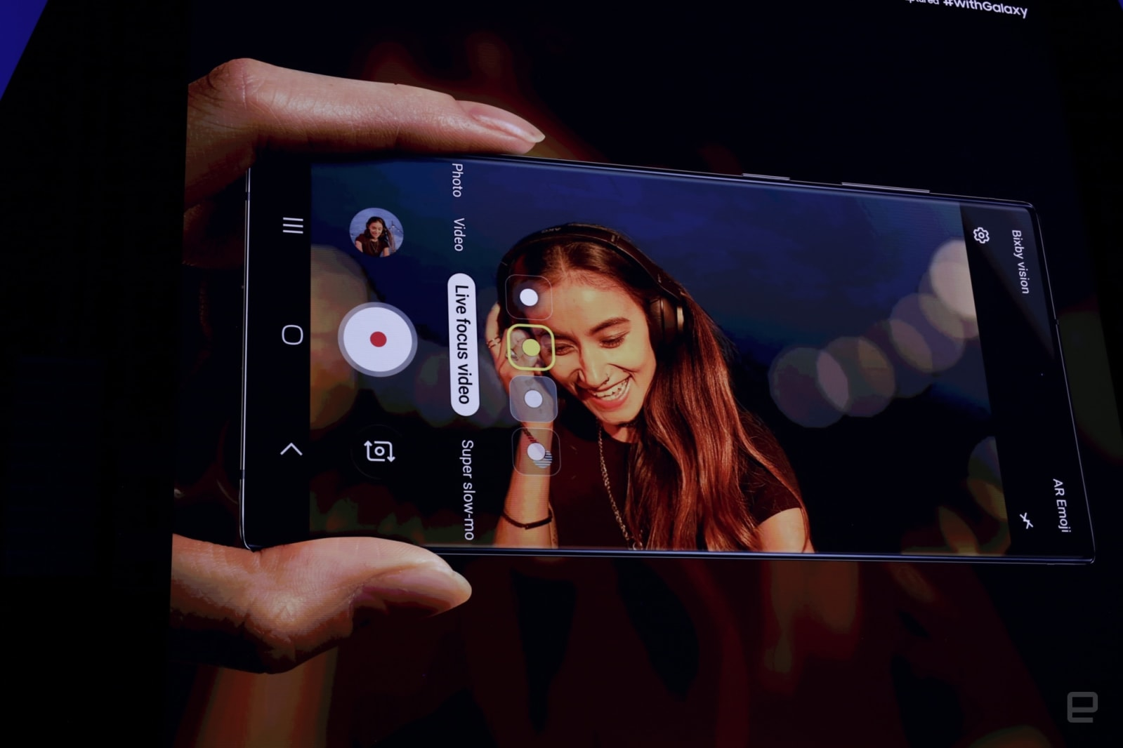 The Note 10s camera can can 'zoom-in' on sounds