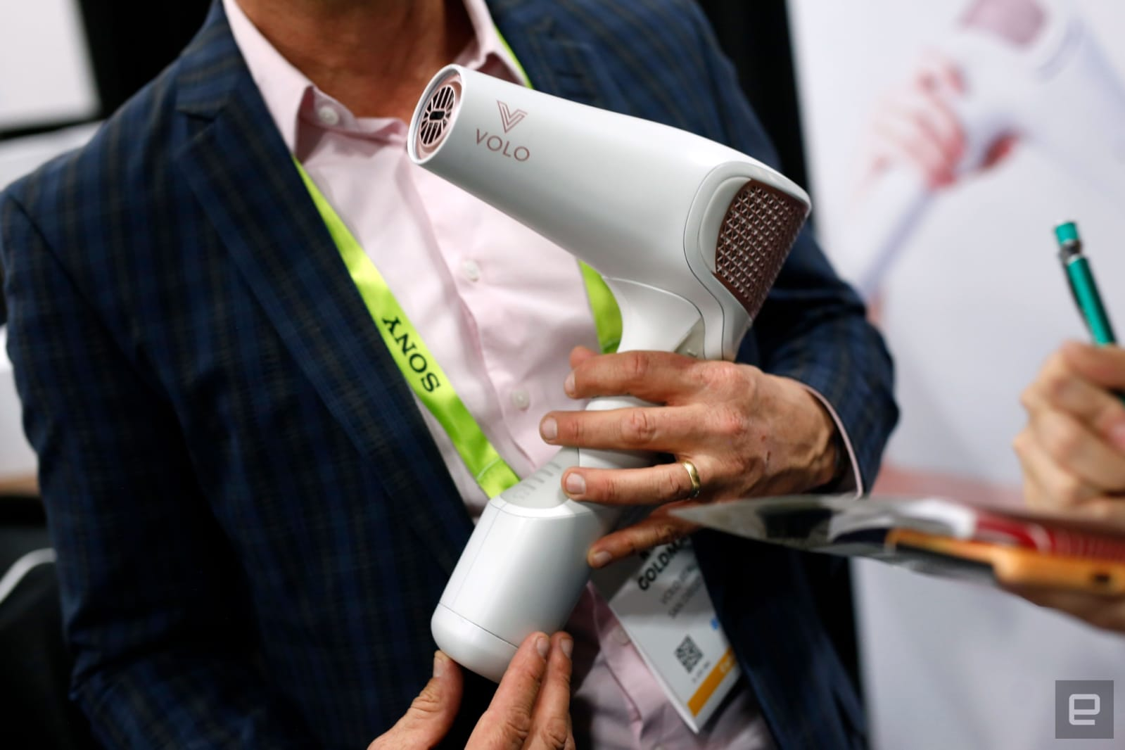Volo Go infrared hairdryer at CES 2019