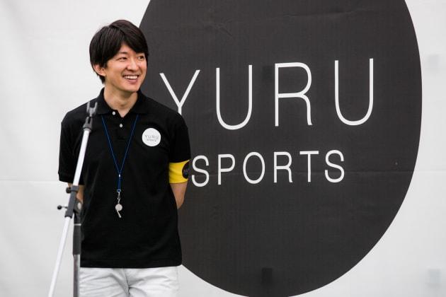 ゆるスポーツイベント中の澤田さん