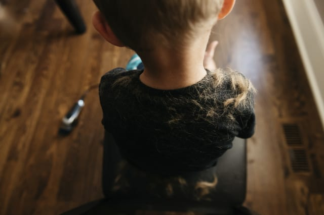 Mum horrified after son shaves his and his siblings' hair