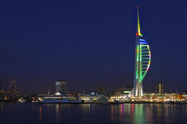Christmas Spinnaker Tower in Portsmouth
