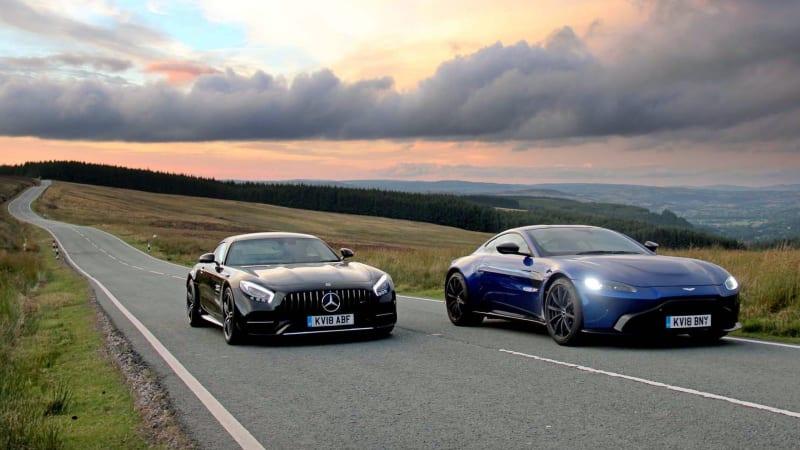 Aston Martin Vantage And Mercedes Amg Gt C Shared Engine Comparison Autoblog