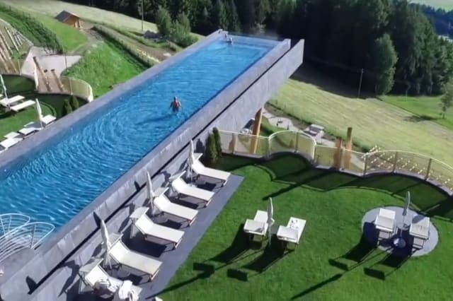 This glass-bottom pool is not for the faint of heart