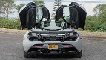 McLaren 720S rear doors open