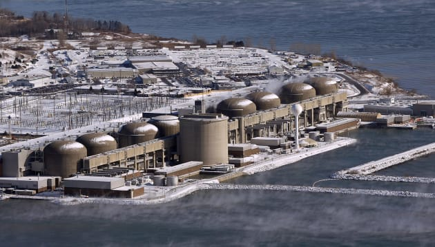 Pickering Nuclear Generating Plant is seen in January