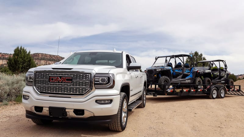 The GMC Tow Like a Pro media drive Monday, May 21, 2018 at the Coral Pink Sand Dunes in St. George, Utah. (Photo by Isaac Brekken for GMC)