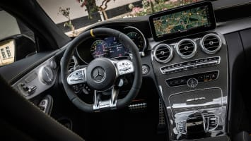 Mercedes-AMG C 63 S Coupé; designo graphitgrau; AMG Leder Nappa zweifarbig magmagrau/schwarz; C 63/ C 63 S