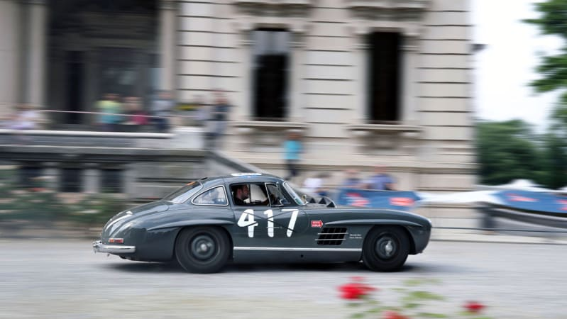 Driving a Mercedes 300 SL Gullwing in the Mille Miglia is