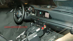 Porsche 911 992 interior spy shot