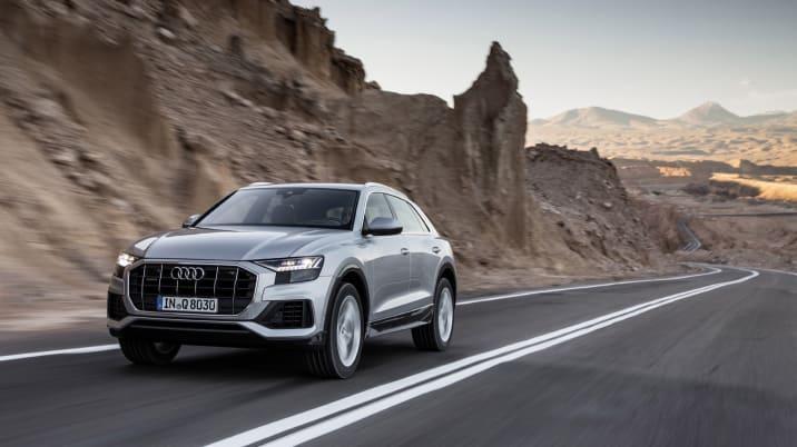 Audi Q8 driving