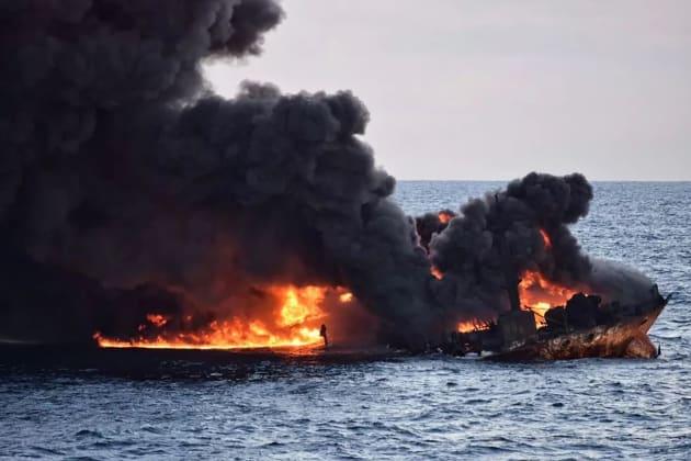 Les dernières images du pétrolier