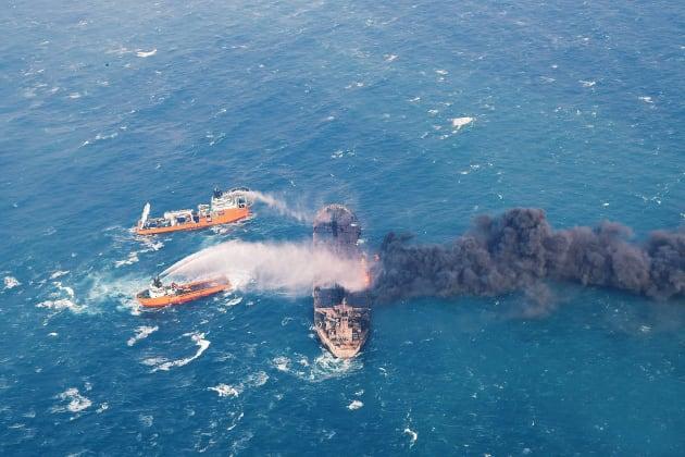 Le pétrolier iranien le 11 janvier