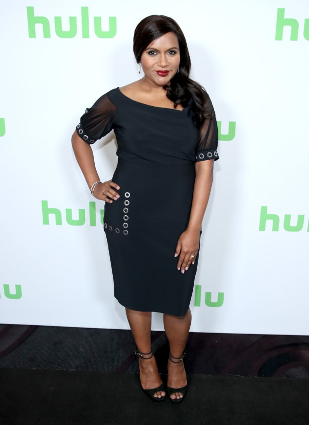 Mindy Kaling Steps Out In Slinky Black Dress In First Appearance Since Surprise Pregnancy Announcement Aol Entertainment